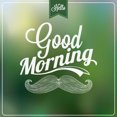 Good Morning Typographical Background