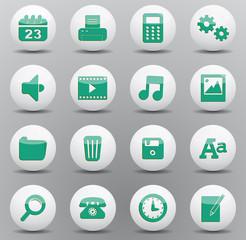 Set icônes bureau sphères