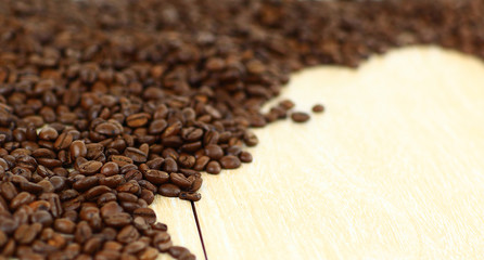 Natural grain of coffee.