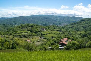 Hillside Village in Liguria, Italy