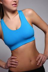 Woman's body in a fitness wear