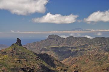 Blick zum Roque Bentaiga, Gran Canaria