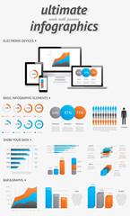 Ultimate info graphics elements set vector