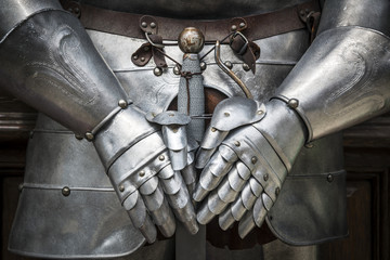 Foto op Canvas Ridders Detail knight armor
