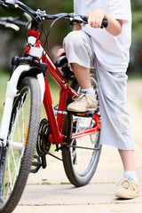 Child with bike
