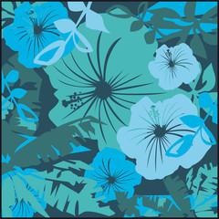 hibiscus,papier peint,feuillage,motif,pop art,floral,fleur,