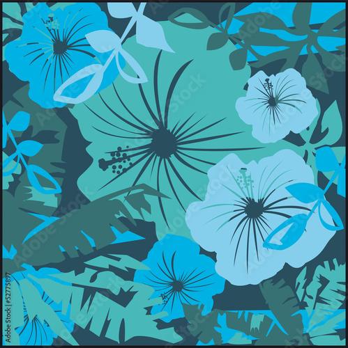 hibiscus papier peint feuillage motif pop art floral. Black Bedroom Furniture Sets. Home Design Ideas