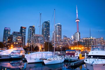 Wall Murals Toronto View of Toronto Yacht Club at Toronto harbor