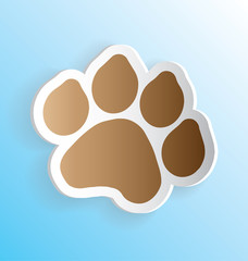 Pet Dog Paw Print Sticker