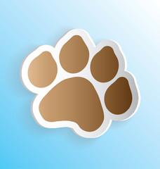 Pet Dog Paw Print Sticker