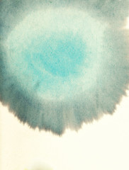 Blank Blue Abstract Watercolor Macro Texture Background.Freehand