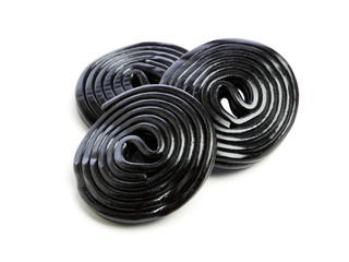 Licorice wheels isolated