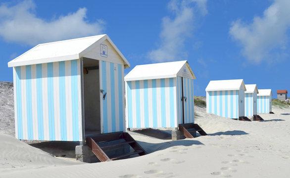 Cabines de plage à Hardelot