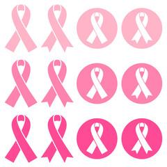 Set Breast Cancer Ribbon Pink