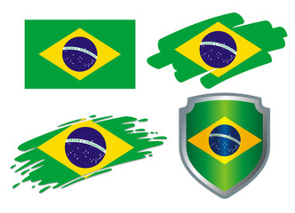 various Flags Brazil