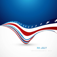 4th july independence day wave vector background