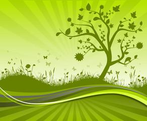 Karte Wiese Baum
