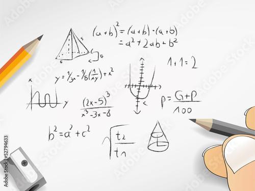 Nachricht Mathe Mathematik Nachhilfe Zahlen Formeln Diagramme ...