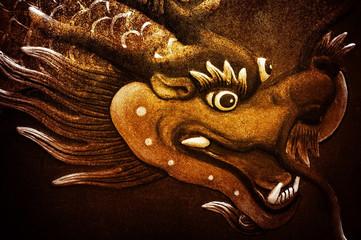 Papiers peints Dragons golden dragon sculpture