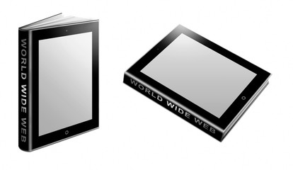 Tablet PC als Buch stehend und liegend