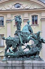 Statue of soldier in Stockholm, Sweden