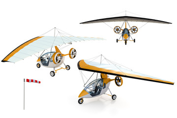Composite of Robots flying in an Ultralight