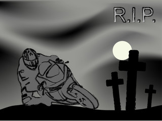 Wall Mural - R.I.P.