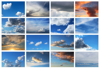 collection of sky backgrounds