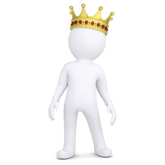 3d white man with a crown