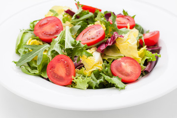 fresh vegetable salad on plate..