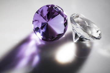 Diamonds close-up