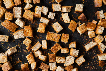 bread small squares, homemade croutons