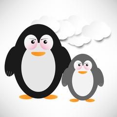 Wütende Pinguine im Eis