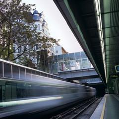 sub underground vienna austria transportation train U4 margarete