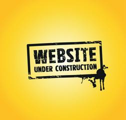 a website building splash stamp in black