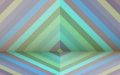 Poster ZigZag Retro background with rhombus