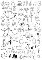 Collection of signs and symbols