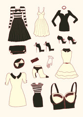 Women fashion clothes and accessories