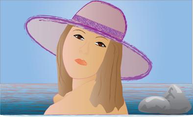 donna con il cappello