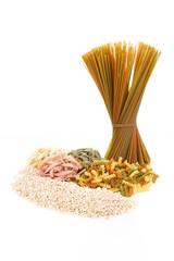 Pasta tricolori and rice