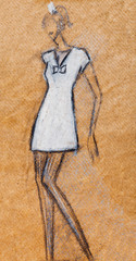 short mini white cocktail dress in 40th years