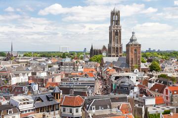 Utrecht aerial view, Netherlands Wall mural