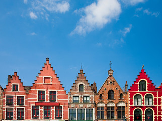 Photo sur Aluminium Artistique Bruges houses