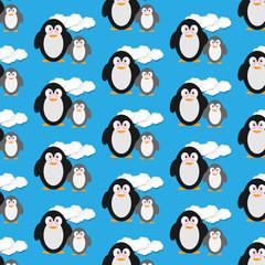 Geschenkpapier Muster wütende Pinguine