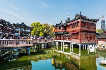 oldest tea house of Fang Bang Zhong Lu old city shanghai china