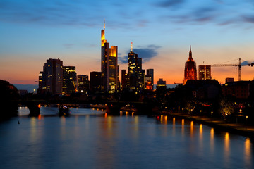 Wall Mural - Frankfurt am Main cityscape at sunset