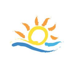 Vector logo summer
