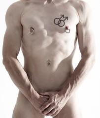 Gay with gaysymbol tattoo