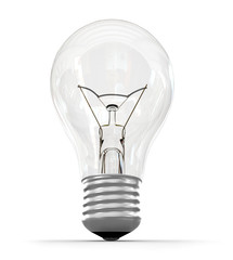 light bulb isolated on a white background, 3d