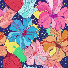 Flower seamless. Vector